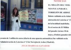 Premios en la Administración Nº 13 - El Grillo de Torrejón de Ardoz