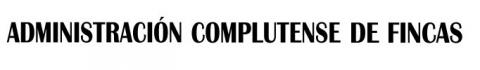 Logotipo de ADMINISTRACION COMPLUTENSE DE FINCAS